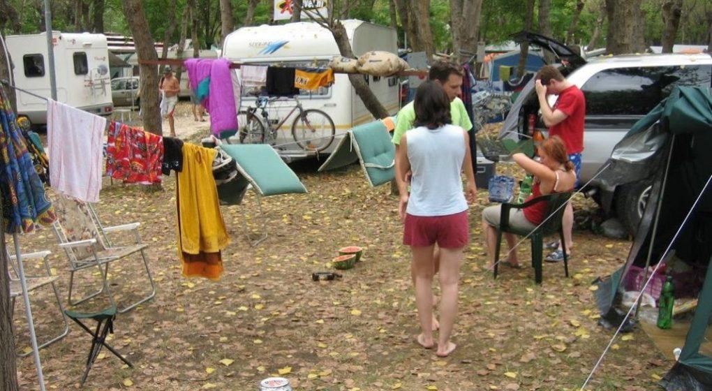 Campingplatz in Rimini, Italien