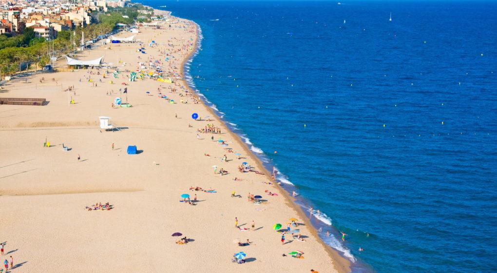 Partyurlaub in Calella, Spanien - Strand von Calella
